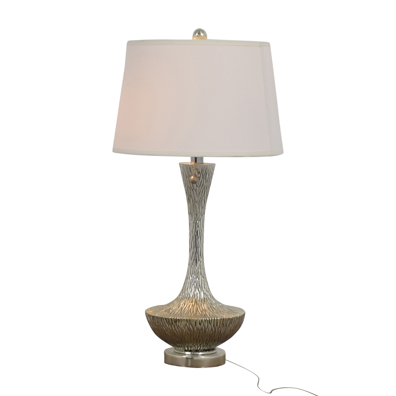 Embossed Silver Table Lamp used