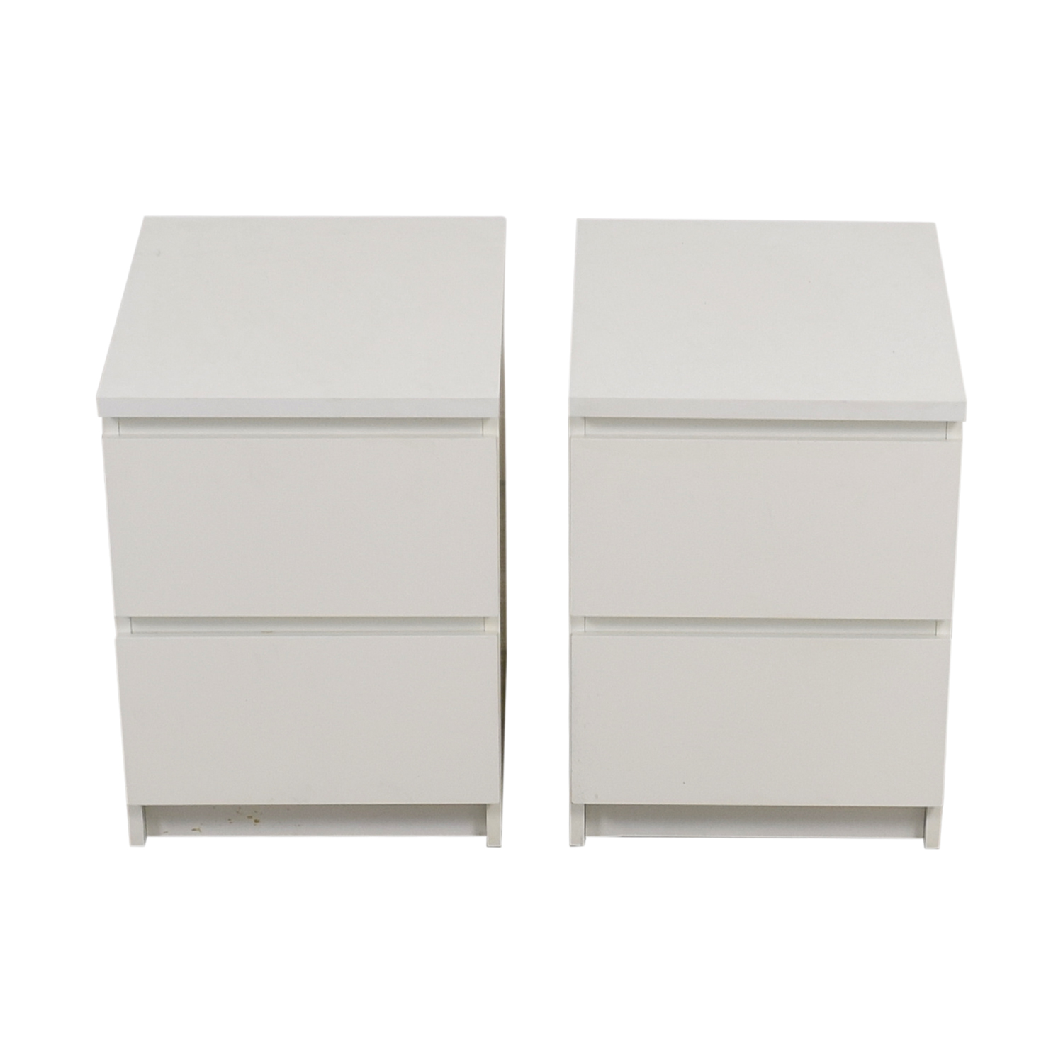 IKEA IKEA White Two-Drawer End Tables on sale