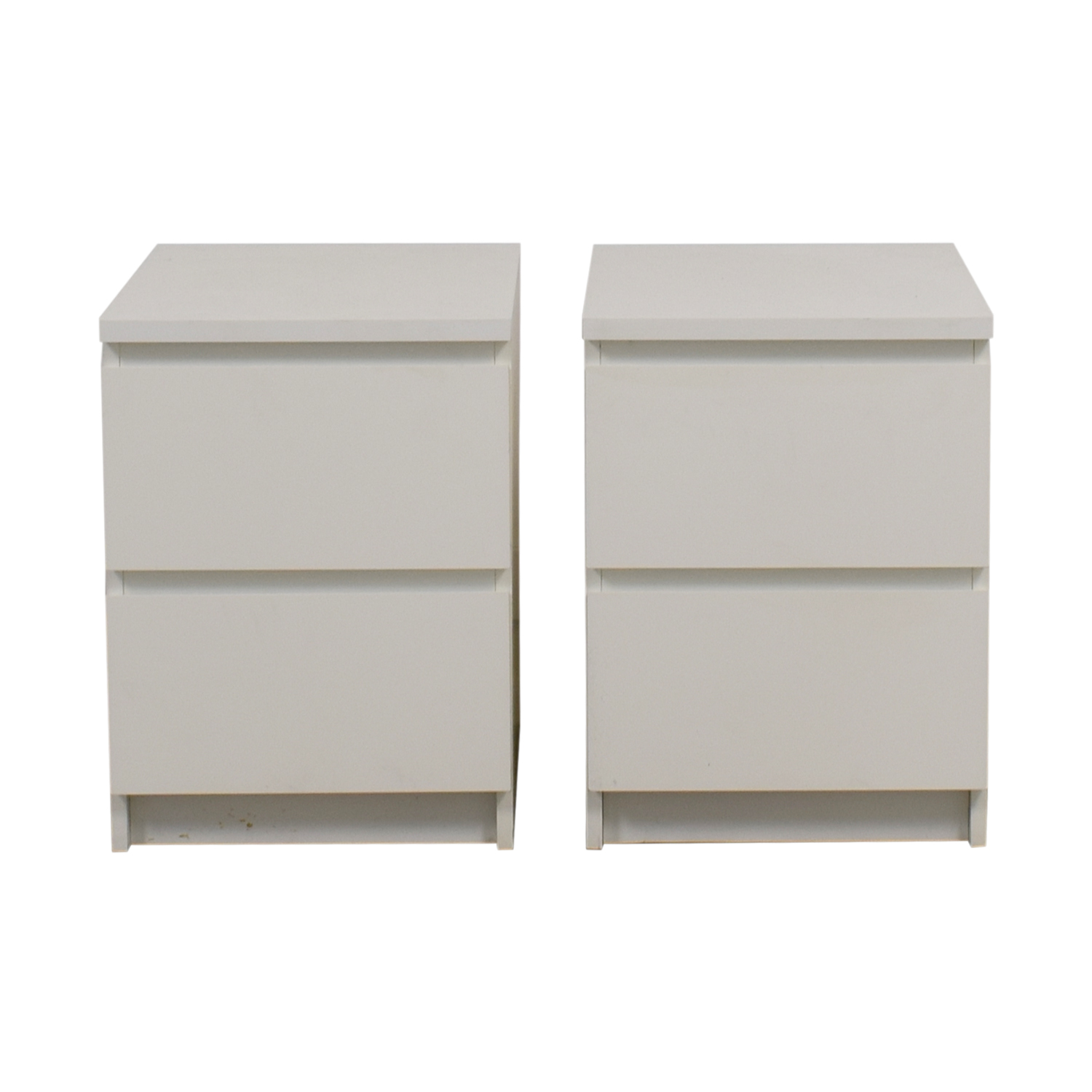 IKEA White Two-Drawer End Tables / Tables