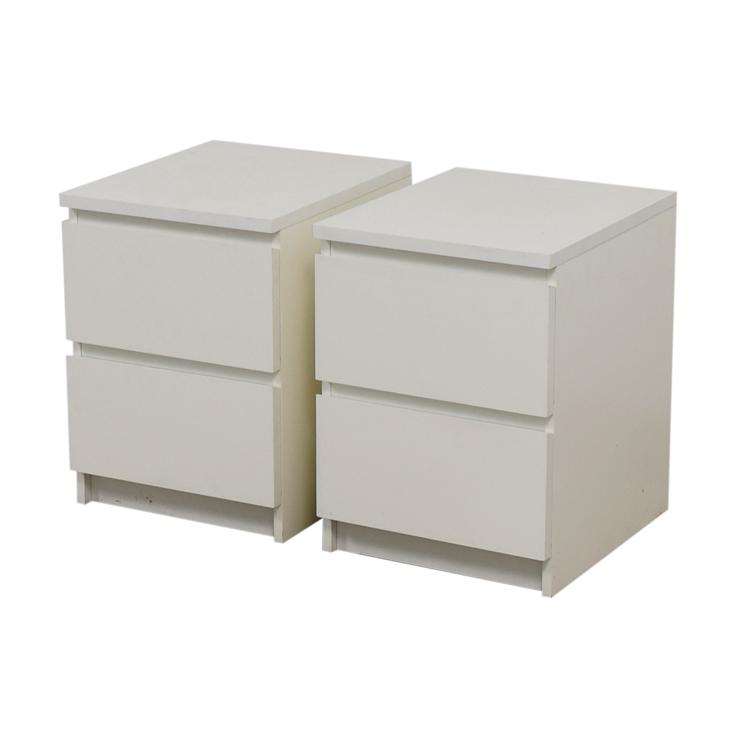 40 Off Ikea Ikea White Two Drawer End Tables Tables
