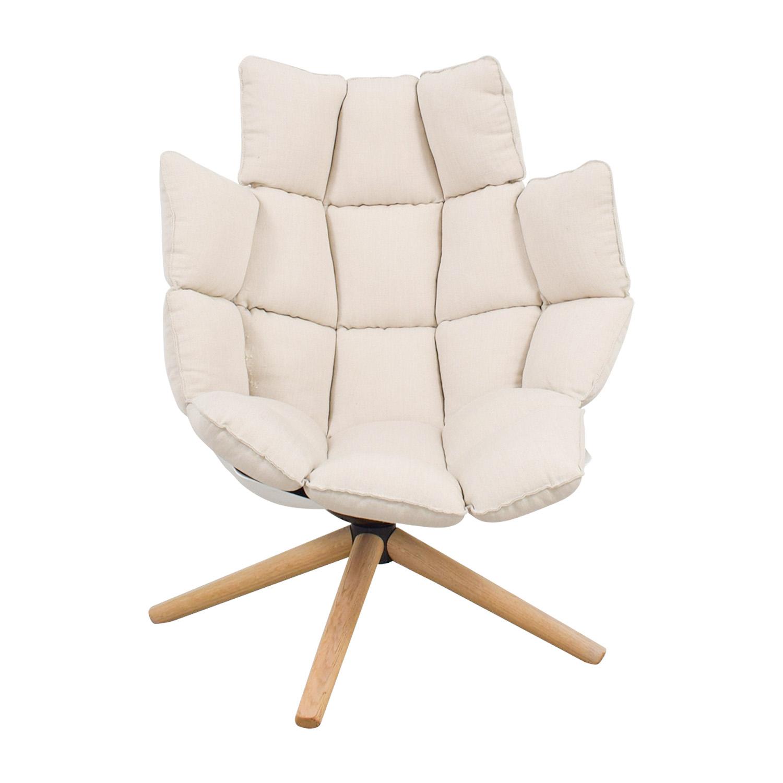 87 Off Bb Italia Bb Italia Husk Beige Armchair Chairs
