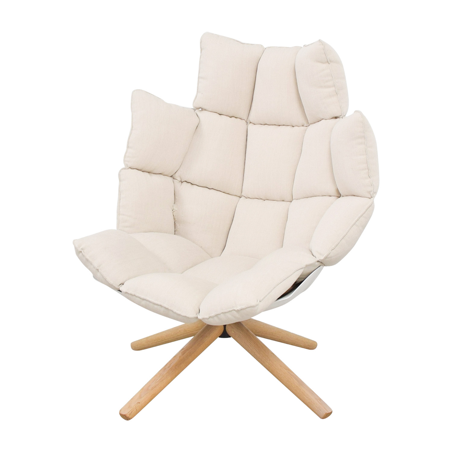87% OFF - B & B Italia B&B Italia Husk Beige Armchair / Chairs