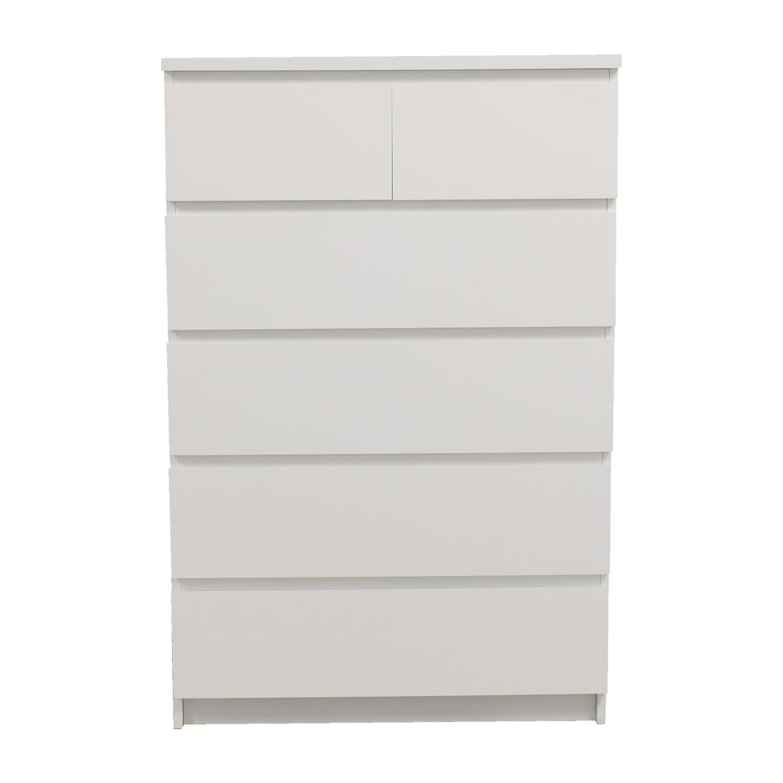 Beau 40% OFF   IKEA IKEA White Six Drawer Dresser / Storage