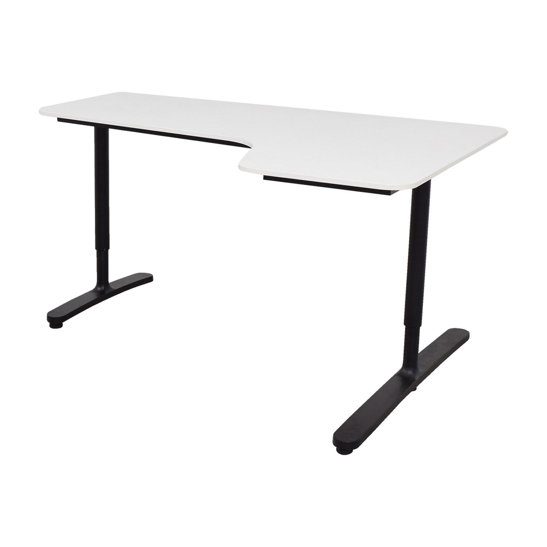 Ikea Bekant White Right Corner Desk For