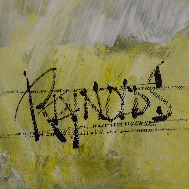 78% OFF - Reynolds Reynolds Antique Floral Oil Painting / Decor