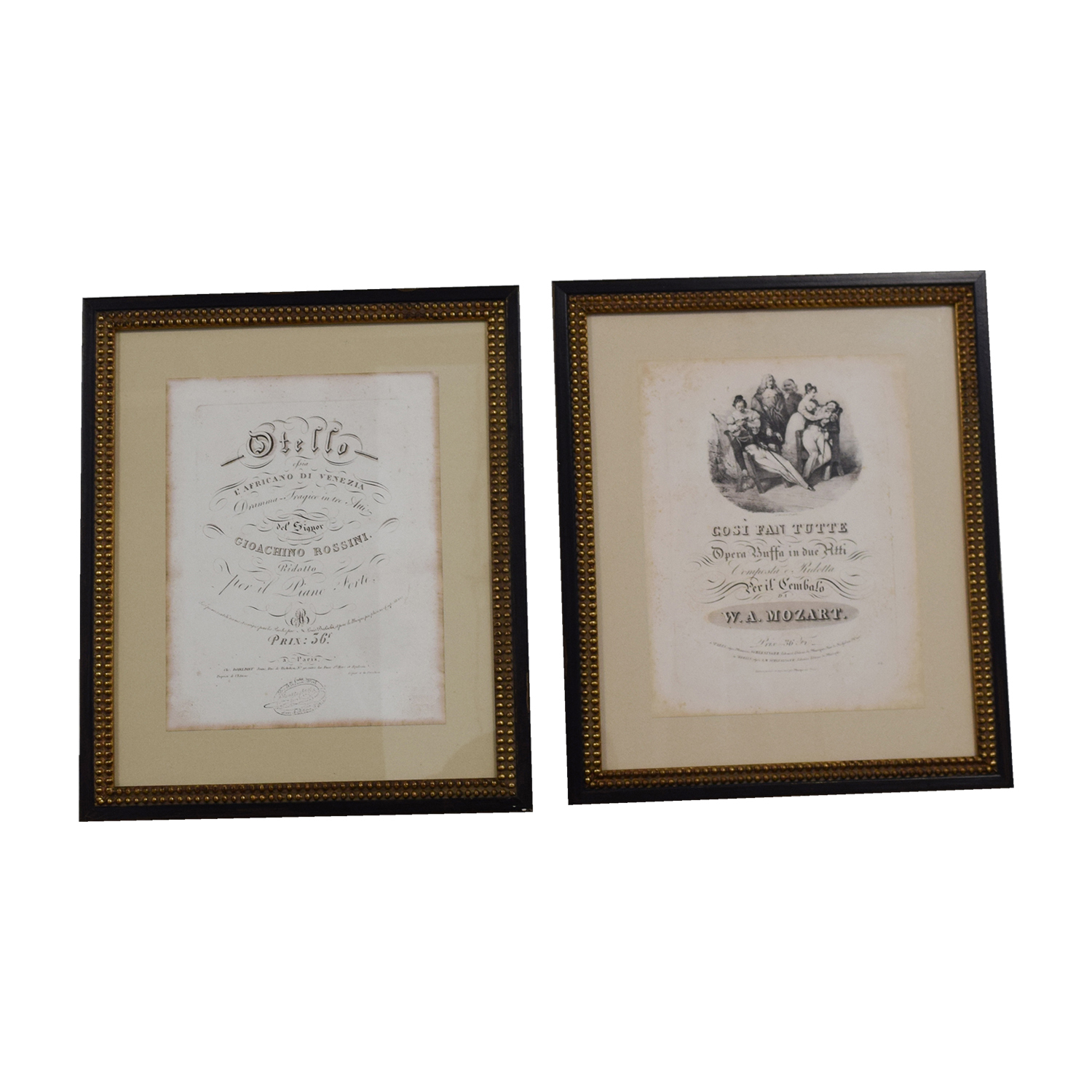 shop One Kings Lane One Kings Lane Vintage Othello Mozart Opera Frames Prints online