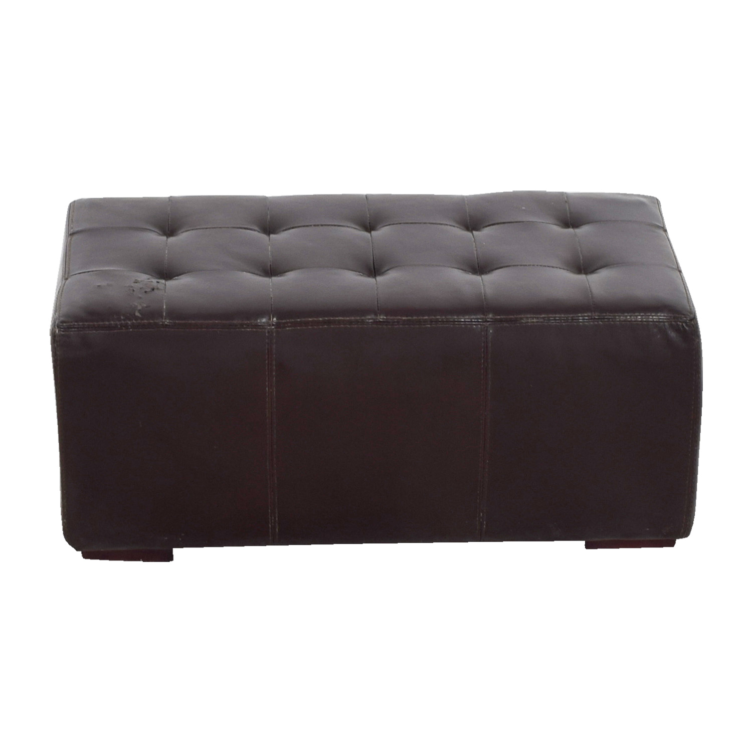 IKEA IKEA Brown Leather Tufted Ottoman used