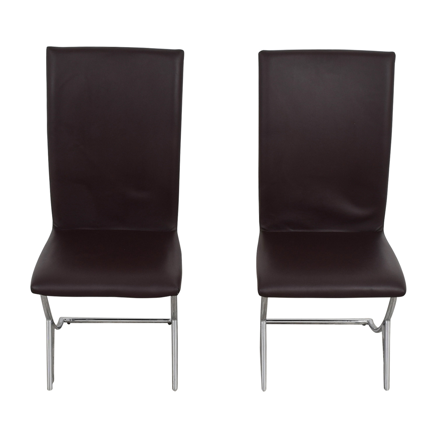 shop Brown Leather Dining Chairs online