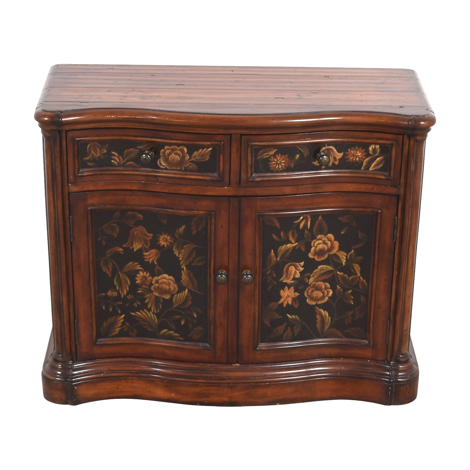 Floral Design Wood Chest