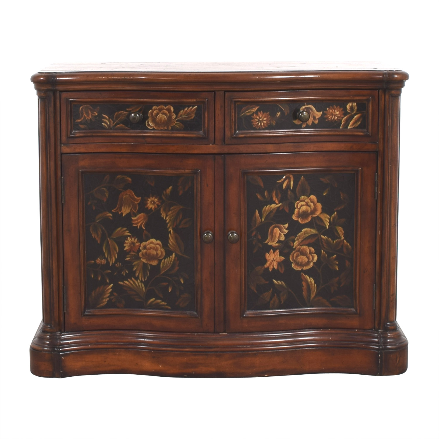 Floral Design Wood Chest price