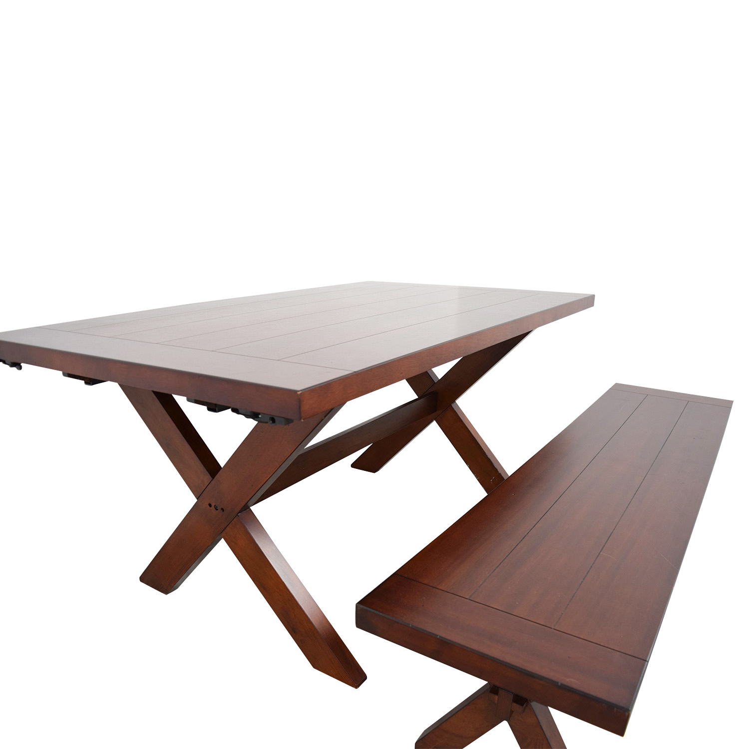Groovy 90 Off Pier 1 Pier 1 Imports Nolan Wood Dining Table With Bench Tables Ocoug Best Dining Table And Chair Ideas Images Ocougorg