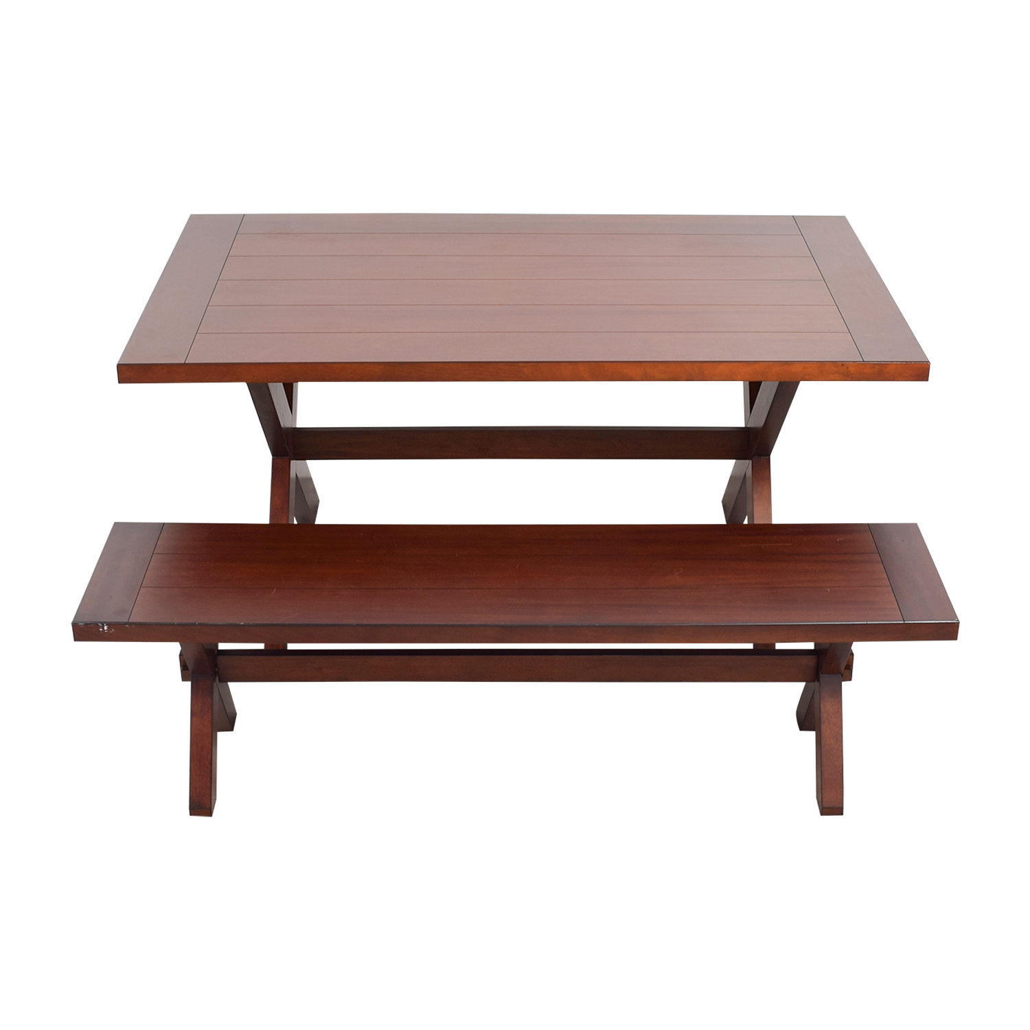 Pier 1 Imports Pier 1 Imports Nolan Wood Dining Table with Bench coupon