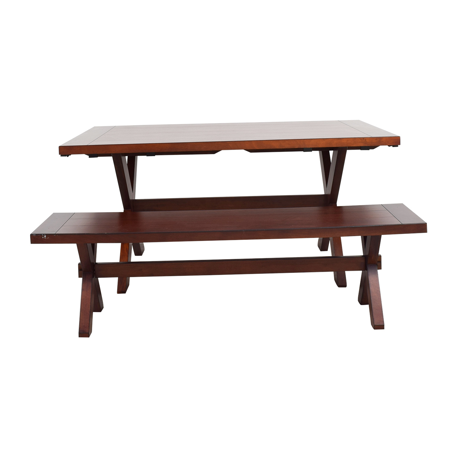 90% OFF - Pier 1 Pier 1 Imports Nolan Wood Dining Table with Bench / Tables