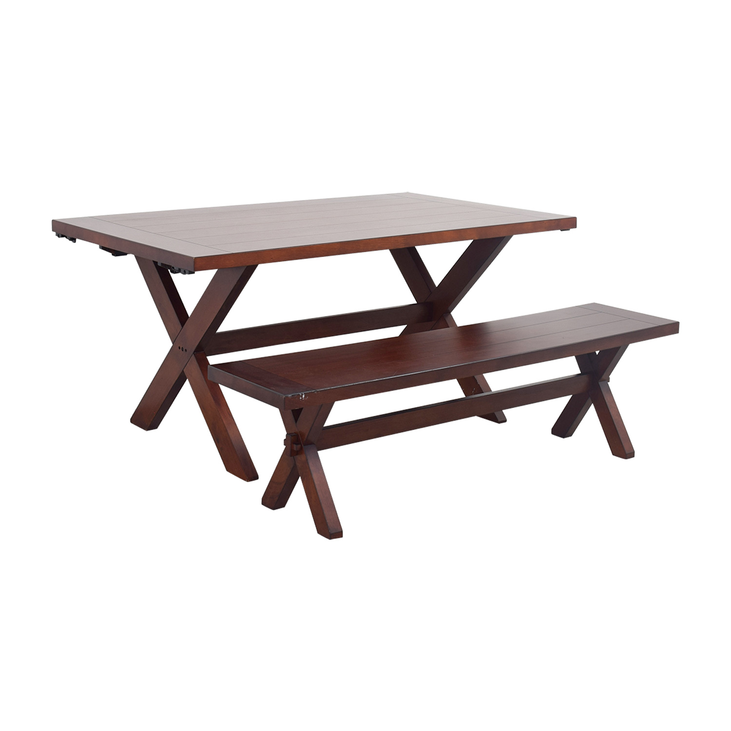 Fine 90 Off Pier 1 Pier 1 Imports Nolan Wood Dining Table With Bench Tables Ocoug Best Dining Table And Chair Ideas Images Ocougorg