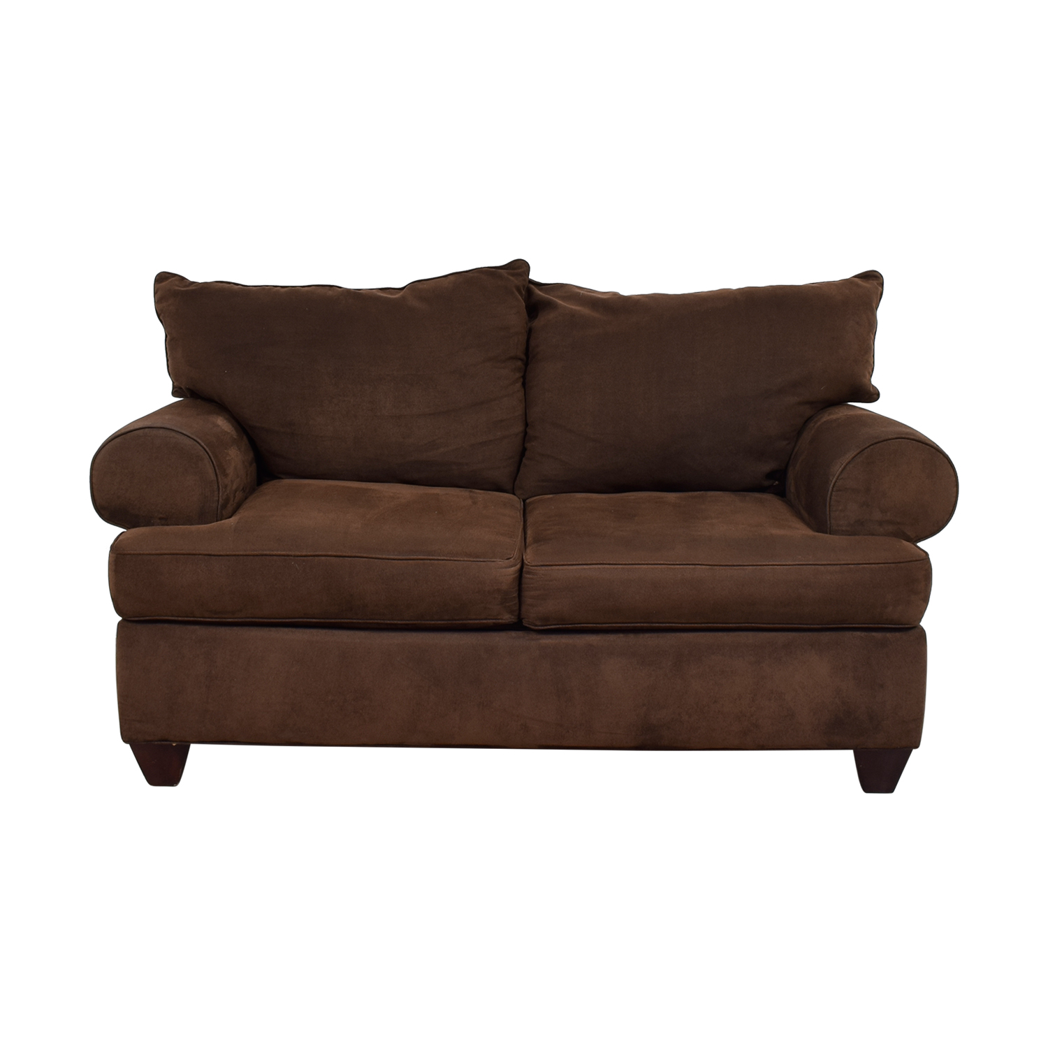 Raymour & Flanigan Brown Two-Cushion Loveseat / Loveseats