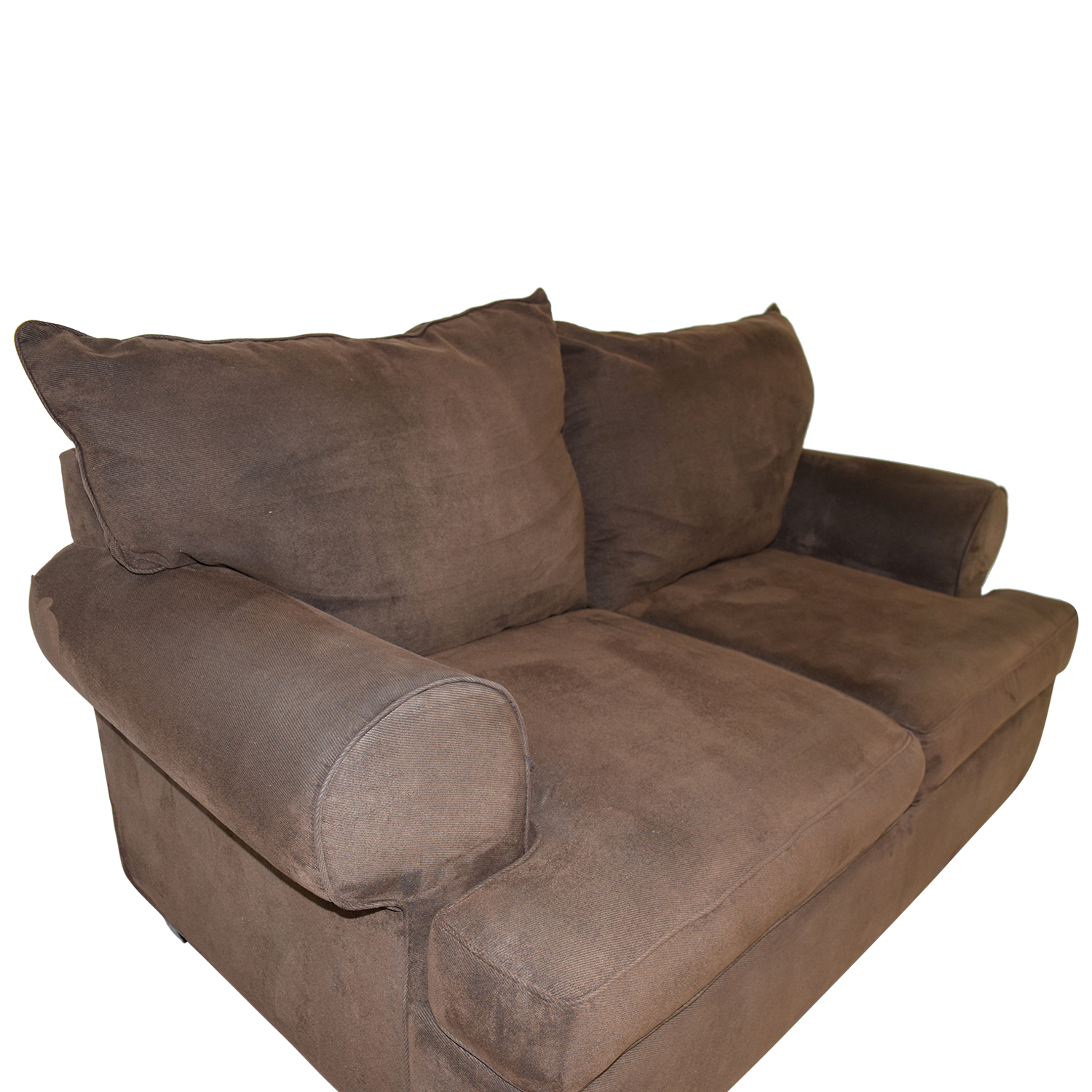 Raymour & Flanigan Raymour & Flanigan Brown Two-Cushion Loveseat for sale