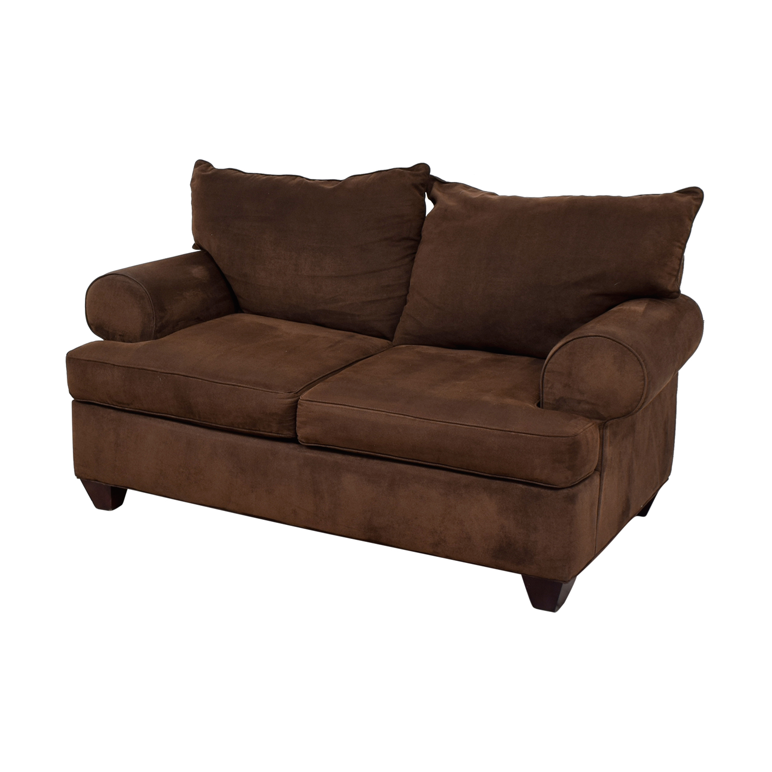 buy Raymour & Flanigan Brown Two-Cushion Loveseat Raymour & Flanigan Loveseats