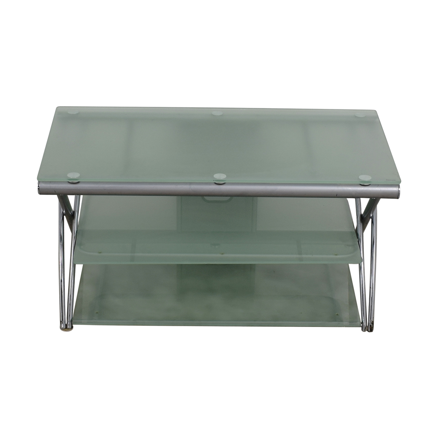 shop Tinted Glass and Metal TV Stand Media Units