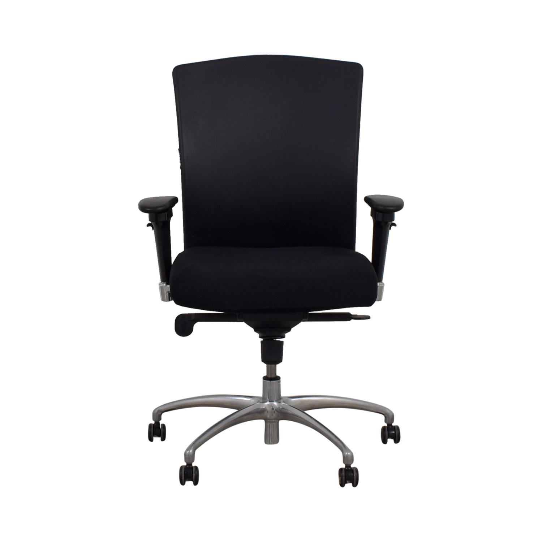 Gunlocke Company Gunlocke Company Ergonomic Black Office Chair discount