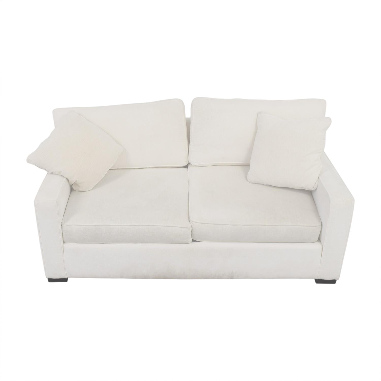 Macys Macys Radley White Two-Cushion Loveseat second hand