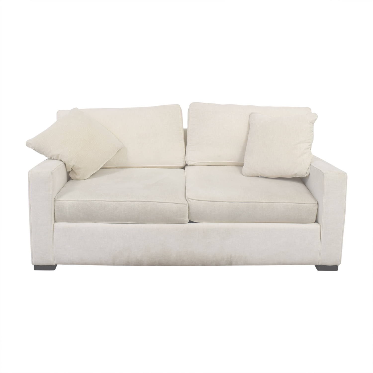 loveseat leather loveseats steal coaster a lois furniture set sofa and white