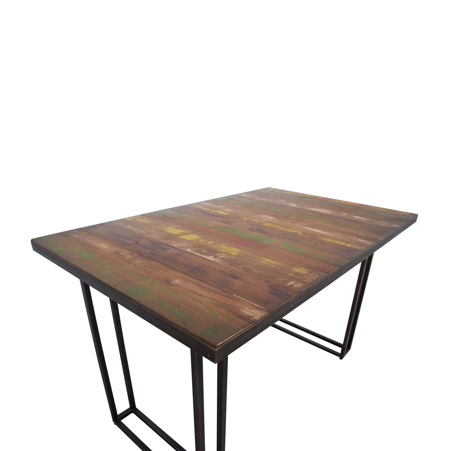 ... West Elm Wood U0026 Colored Dining Table / Tables