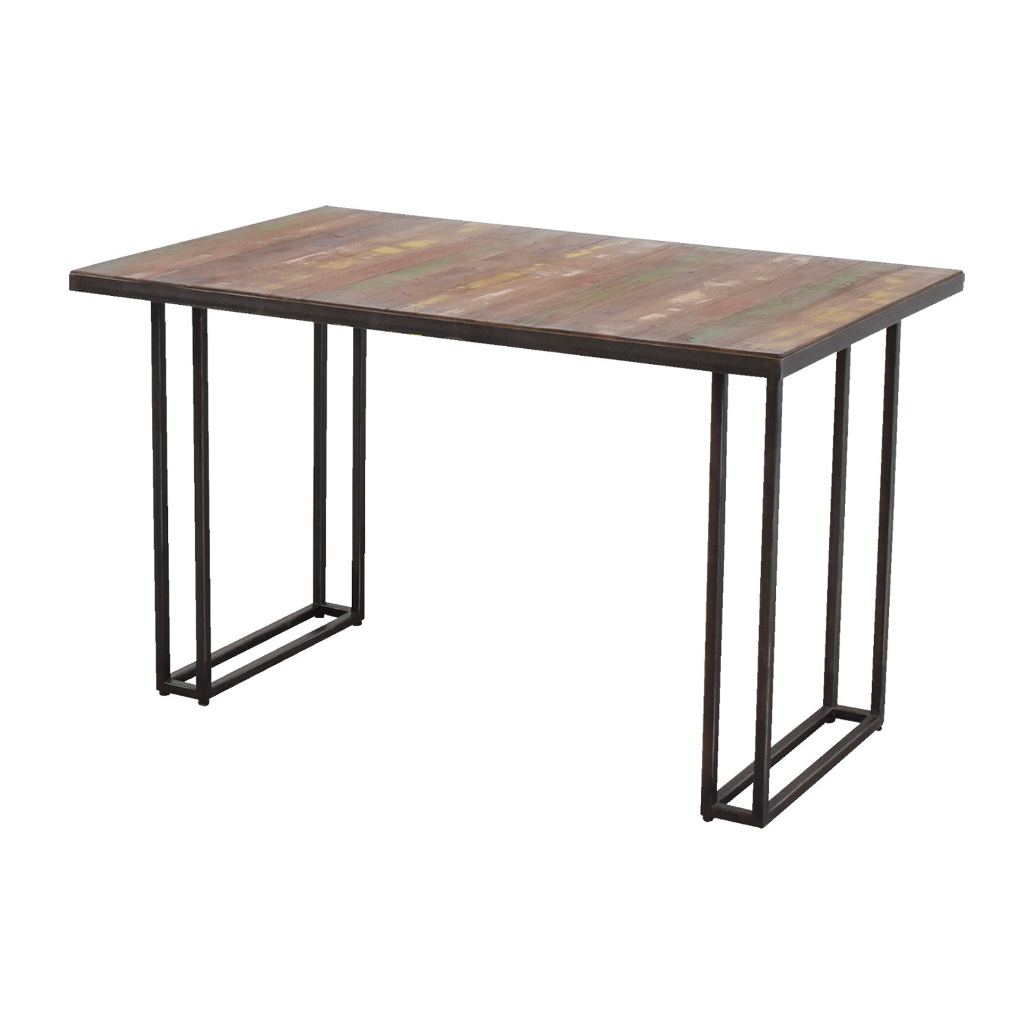 West Elm West Elm Wood & Colored Dining Table on sale