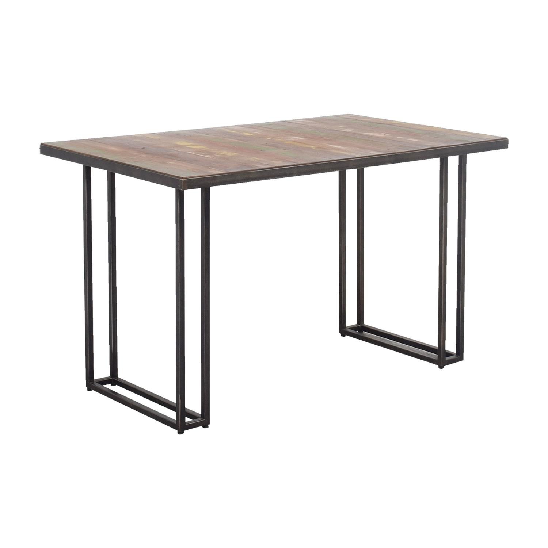 50 off west elm west elm wood colored dining table tables. Black Bedroom Furniture Sets. Home Design Ideas