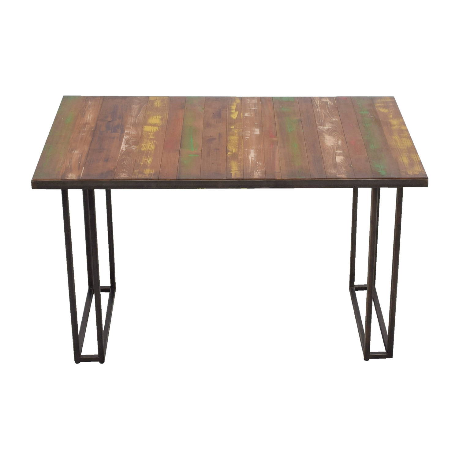 shop West Elm Wood & Colored Dining Table West Elm