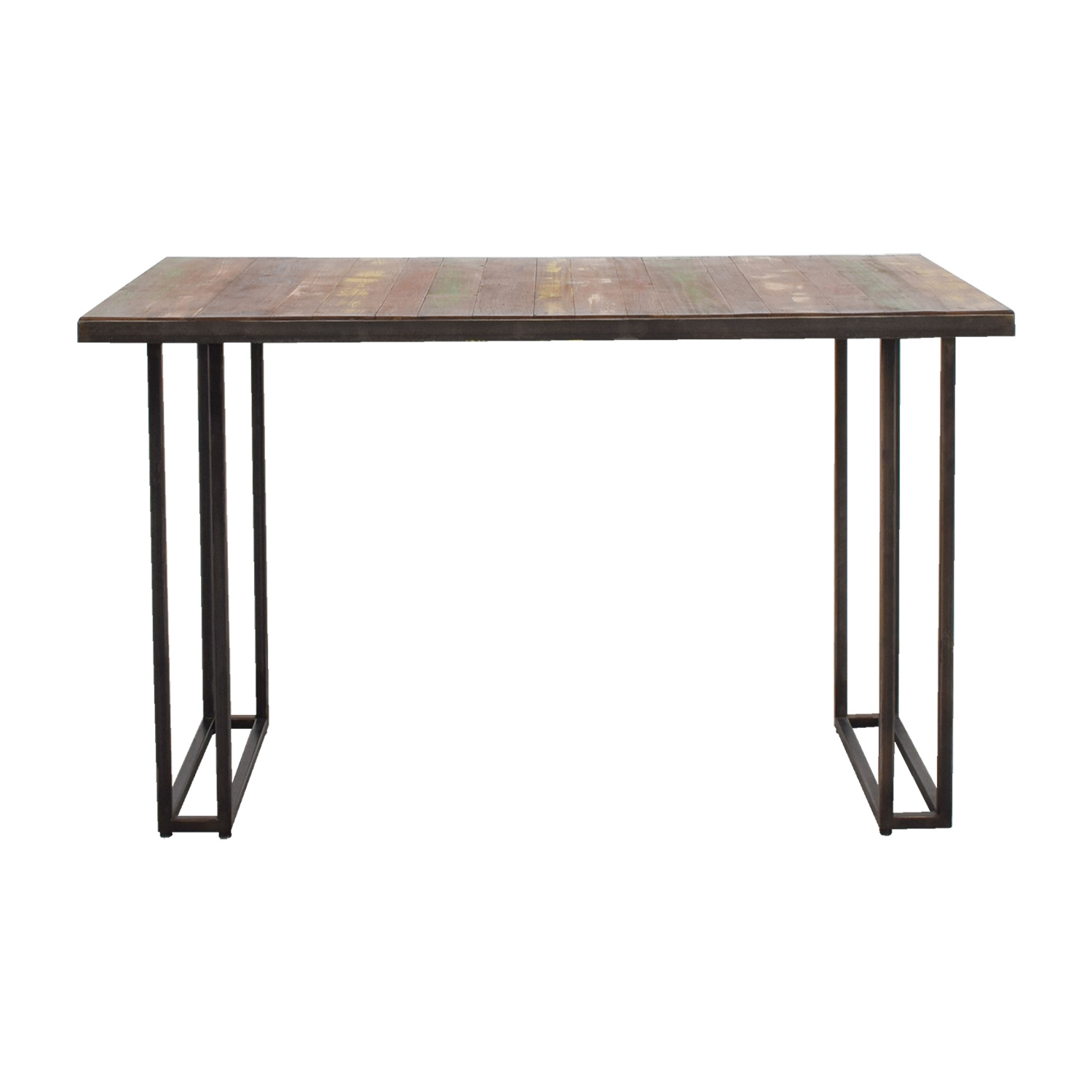 West Elm Wood & Colored Dining Table / Dinner Tables