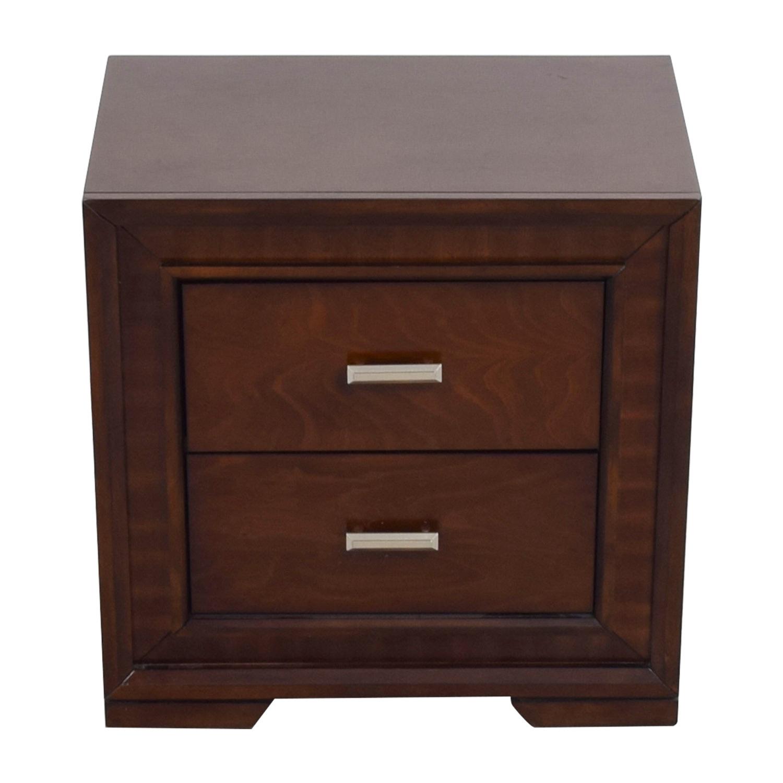 Bobs Furniture Bobs Furniture Brown Wood Side Table on sale