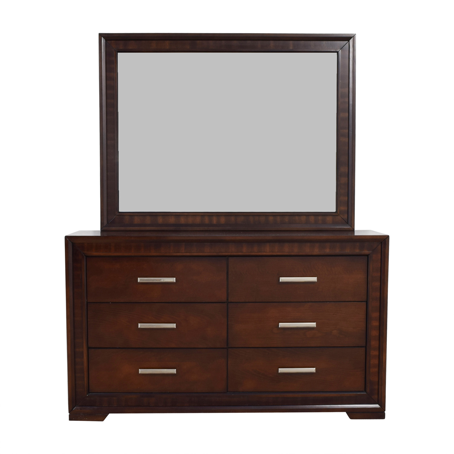 Bobs Brown Wood Dresser with Mirror Bobs Discount Furniture