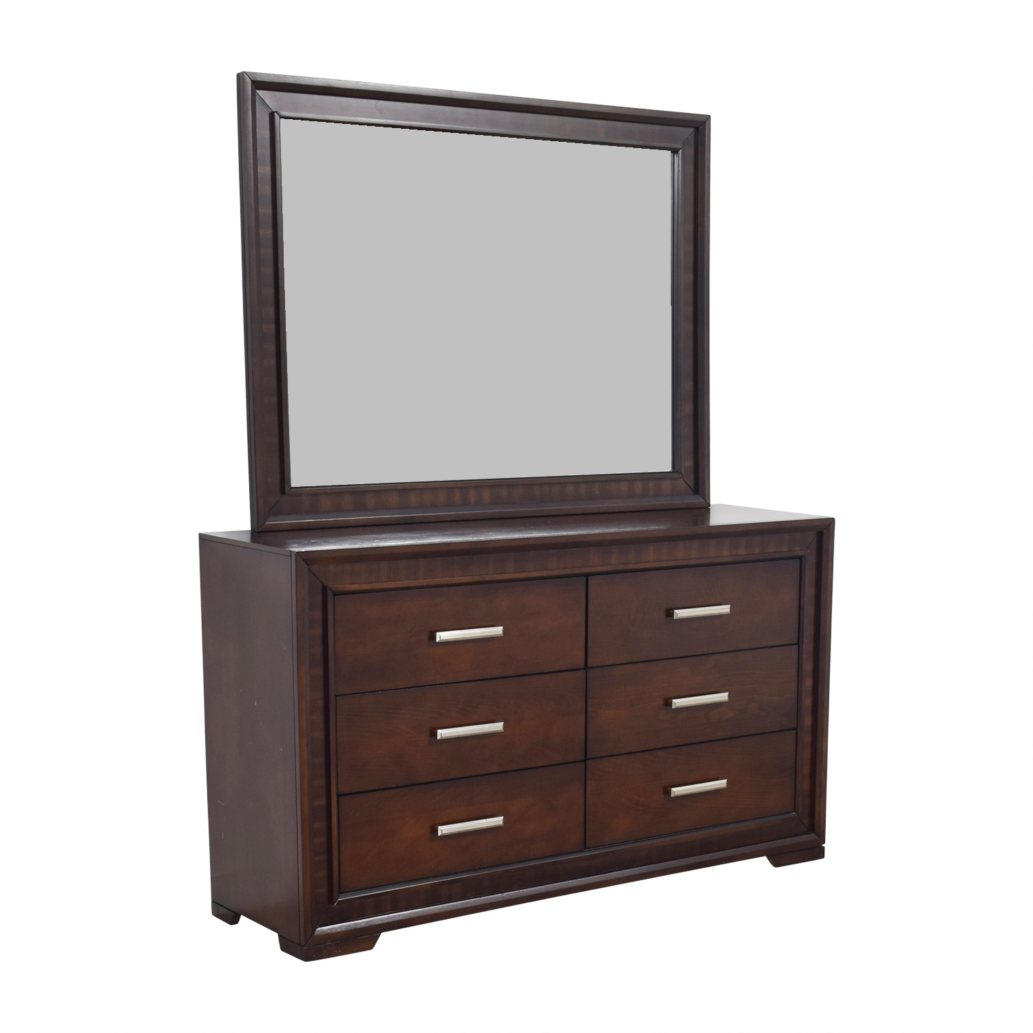 buy Bobs Brown Wood Dresser with Mirror Bobs Discount Furniture Storage