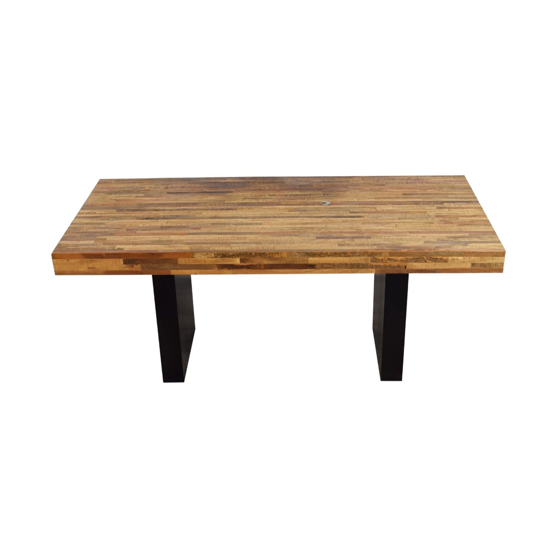 Custom Wood Executive Desk used