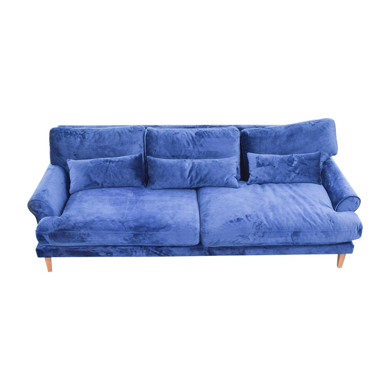 Maxwell Blue Two Cushion Sofa