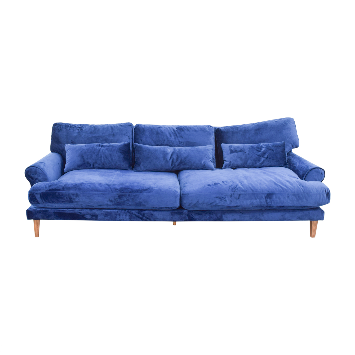 Maxwell Blue Two Cushion Sofa blue