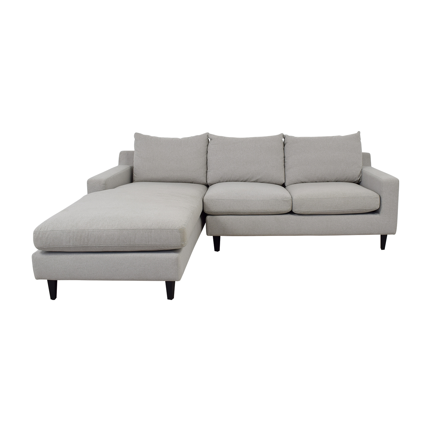 shop Sloan Grey Chaise Sectional  Sofas