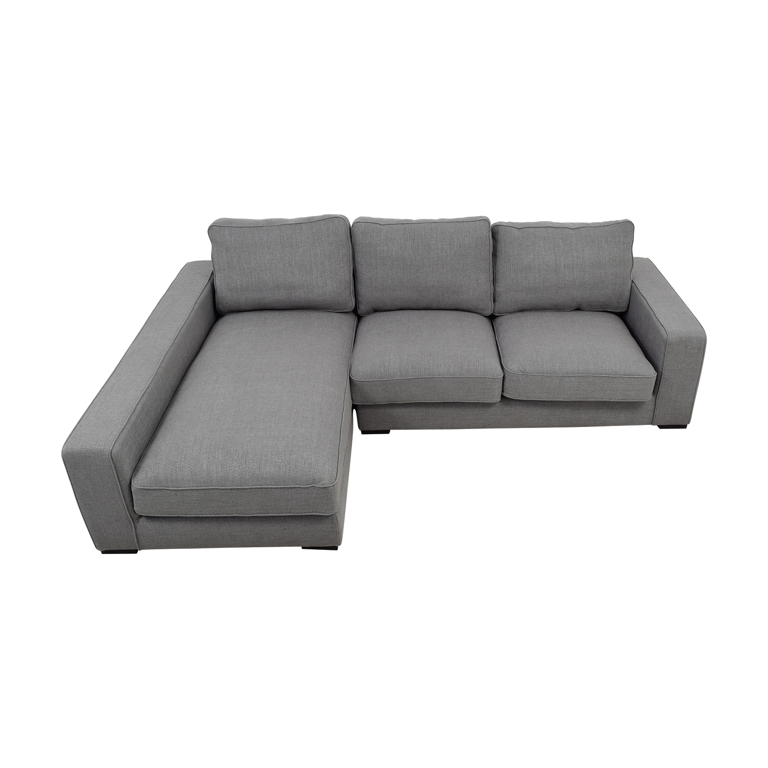 Ainsley Grey Left Chaise Sectional for sale