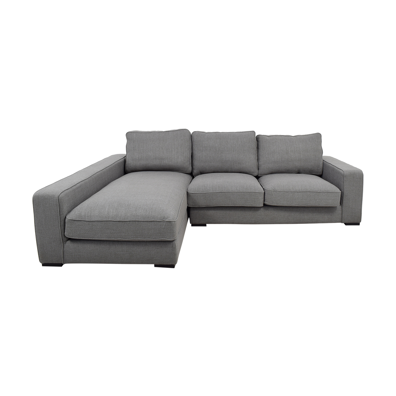 Ainsley Grey Left Chaise Sectional Sofas