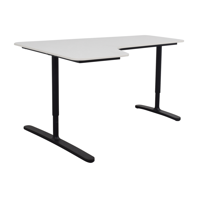 ... IKEA IKEA Bekant White Left Corner Desk Second Hand ...