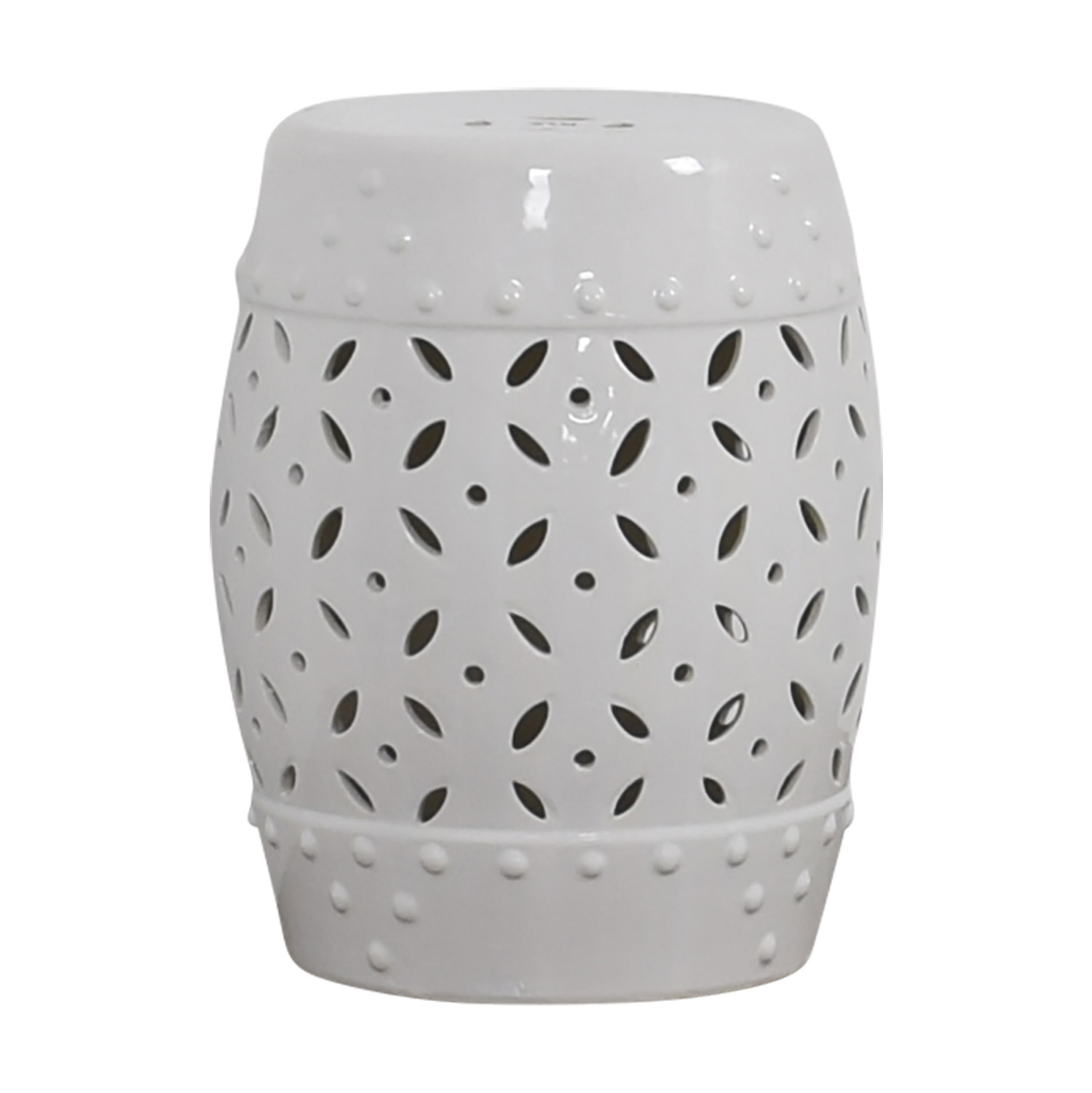 Pier 1 Imports Pier 1 Imports White Drum Accent Table nj
