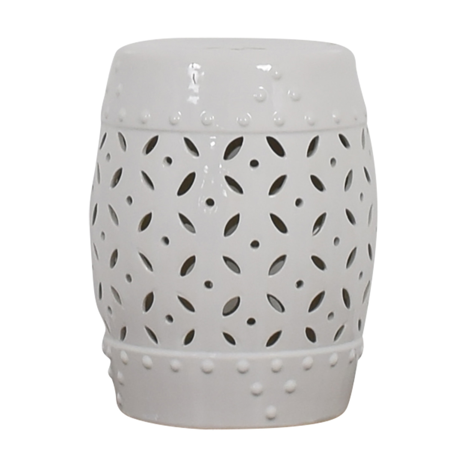 Pier 1 Imports White Drum Accent Table / Accent Tables