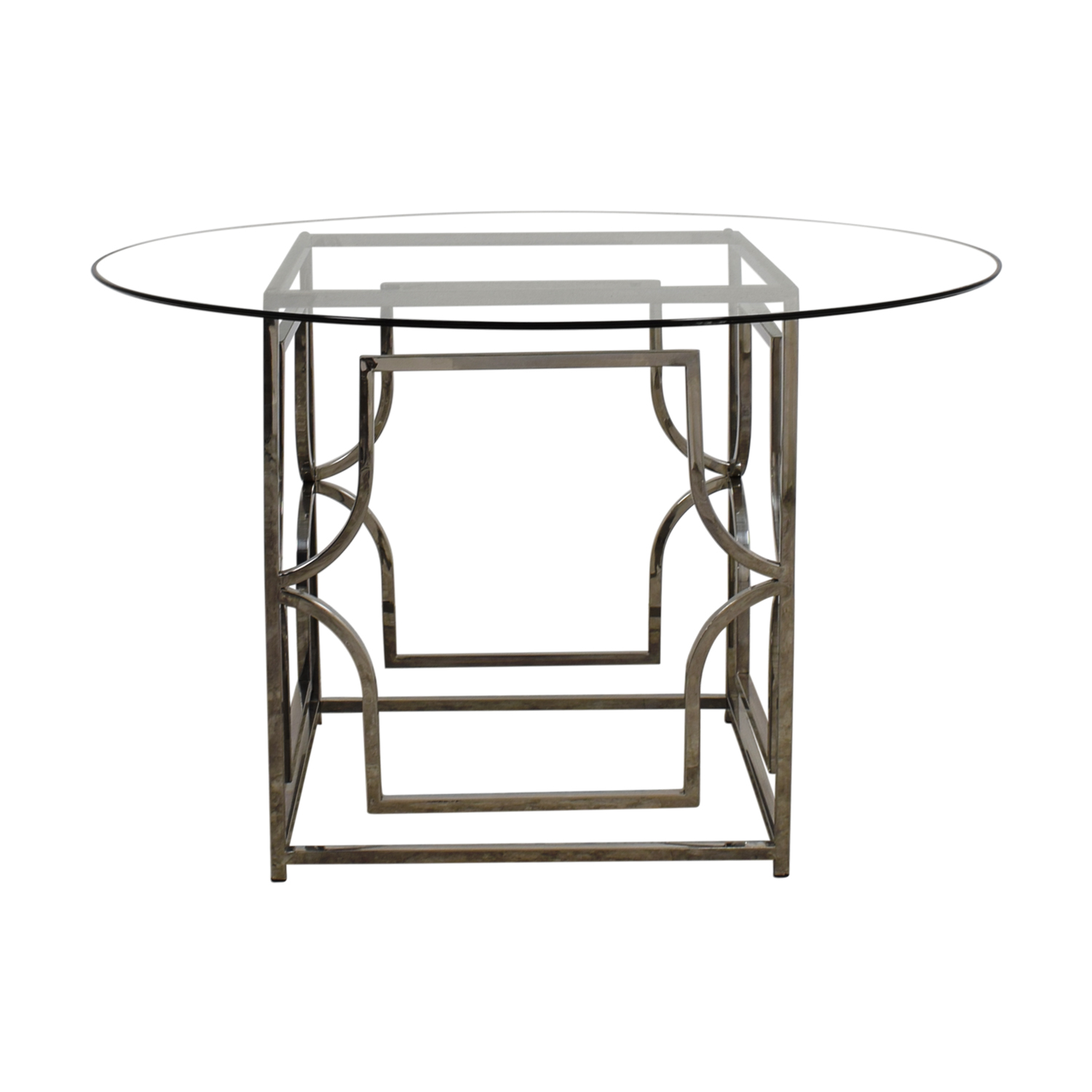 Z Gallerie Z Gallerie Abigail Round Glass and Chrome Dining Table
