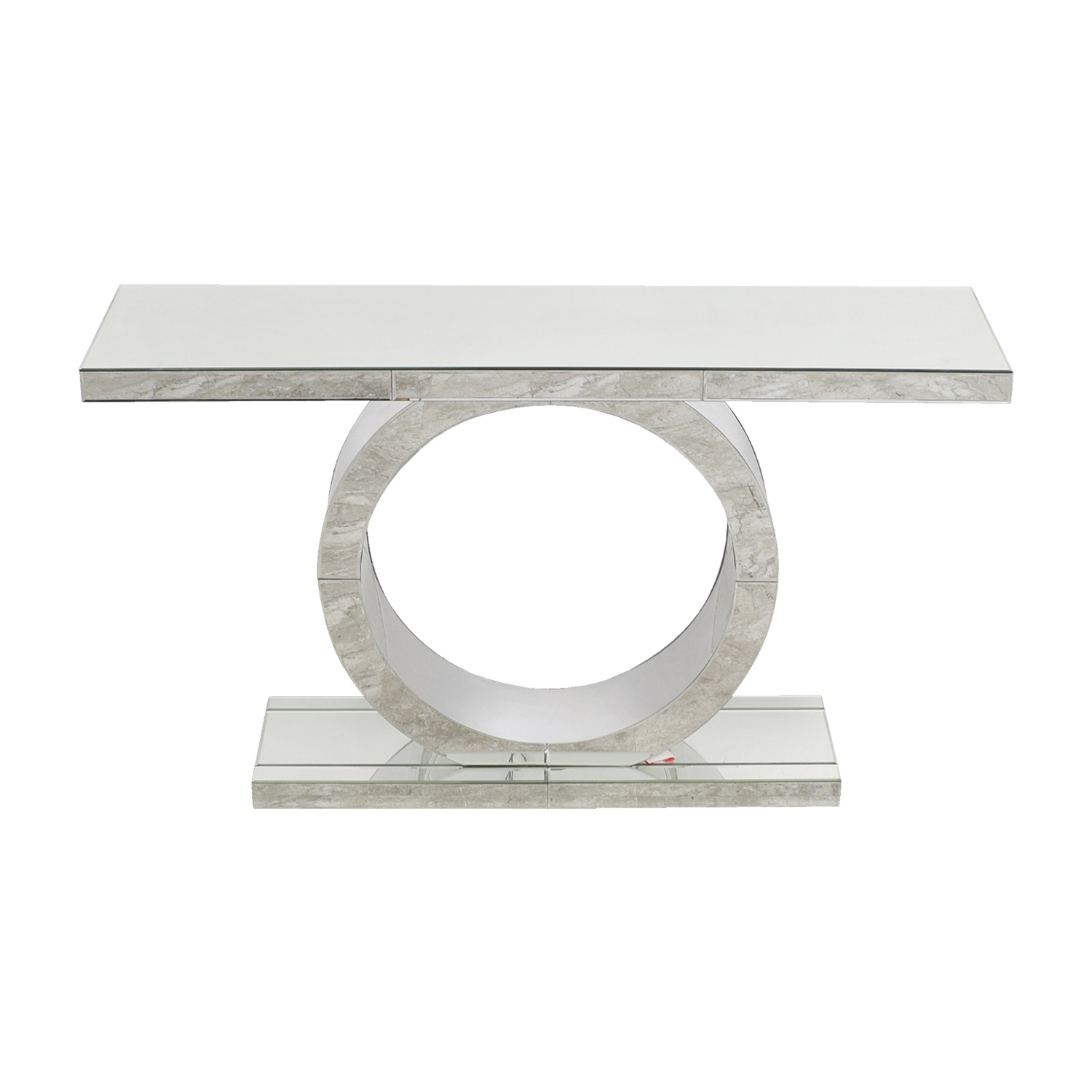 American Signature Olympia Mirrored Sofa Table American Signature