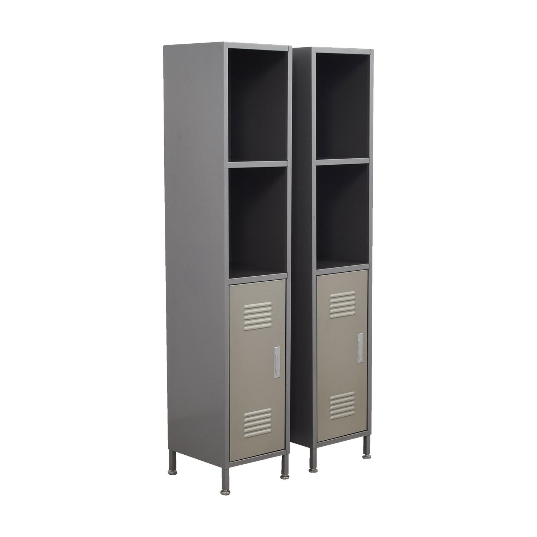 90 Off Pbteen Pb Teen Grey Metal High Locker Cabinets