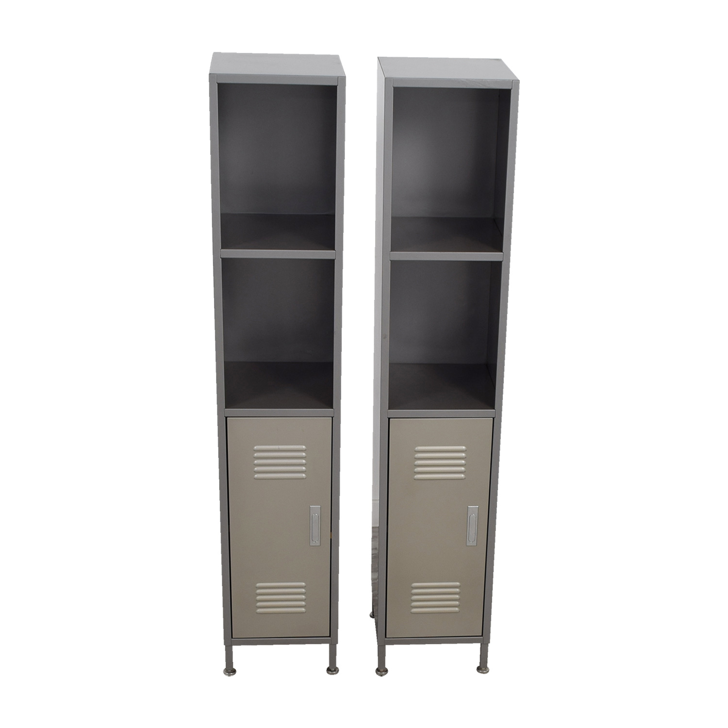 Brilliant 90 Off Pbteen Pb Teen Grey Metal High Locker Cabinets Storage Home Interior And Landscaping Palasignezvosmurscom