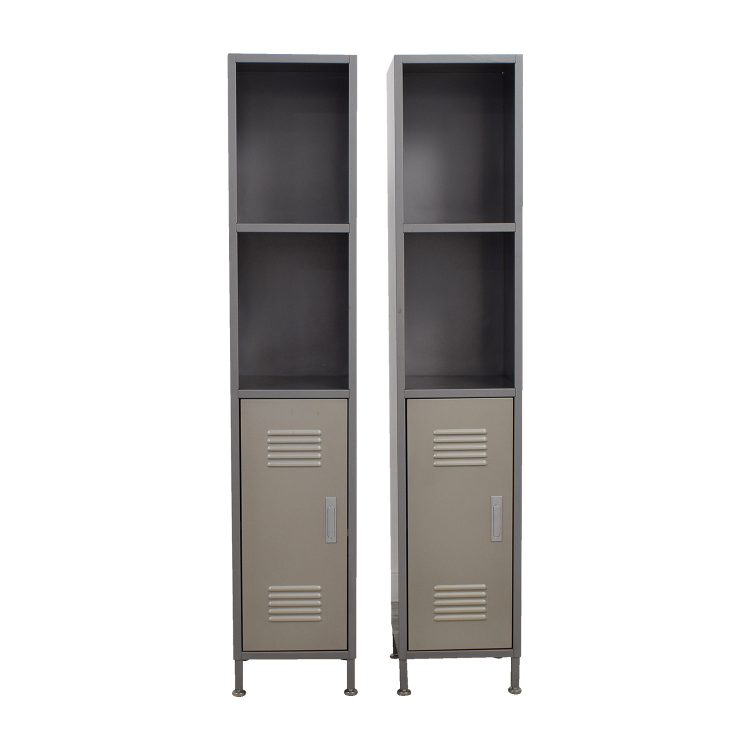 Buy Pottery Barn Grey Metal High Locker Cabinets Pottery Barn Cabinets U0026  Sideboards ...