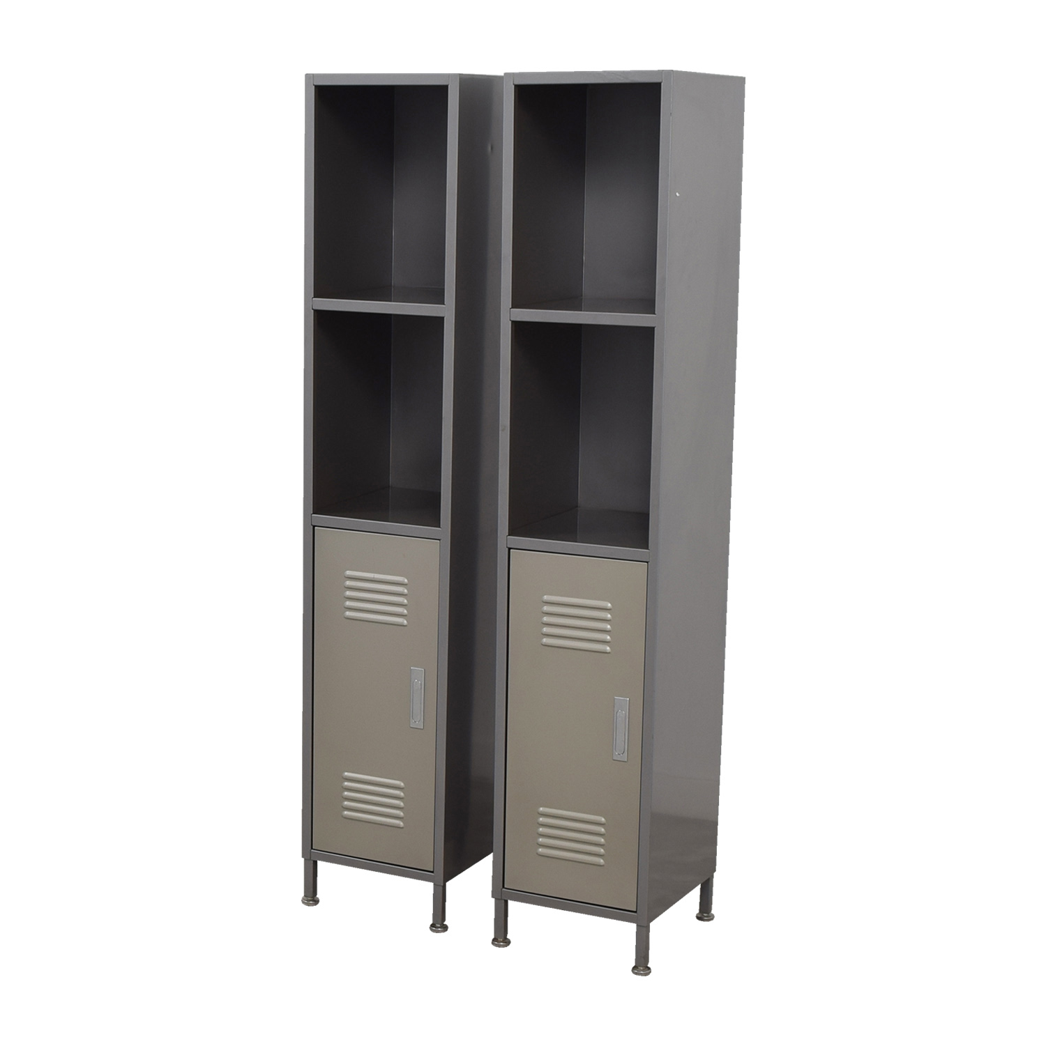 Groovy 90 Off Pbteen Pb Teen Grey Metal High Locker Cabinets Storage Home Interior And Landscaping Palasignezvosmurscom
