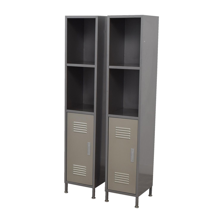 90 Off Pb Teen Pb Teen Grey Metal High Locker Cabinets