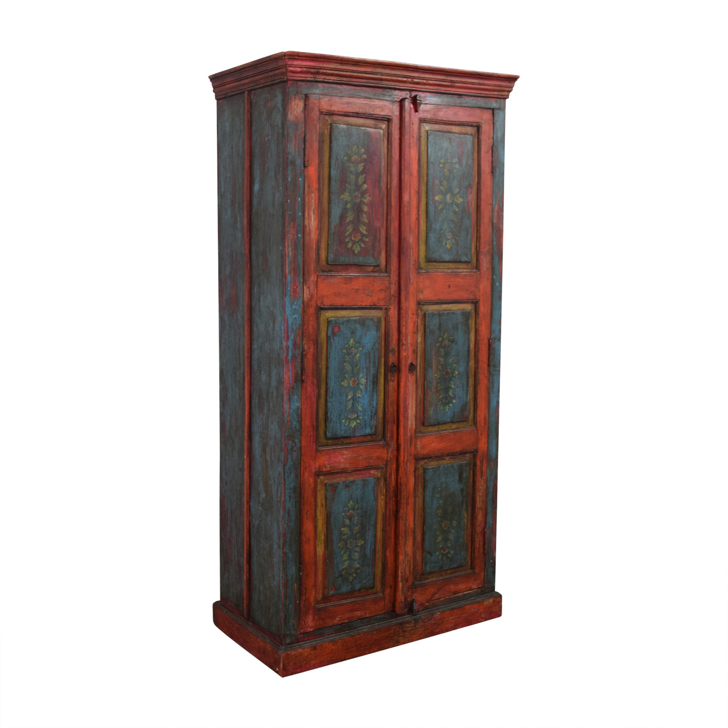 ... Nadeau Rustic Blue And Red Armoire Nadeau ...